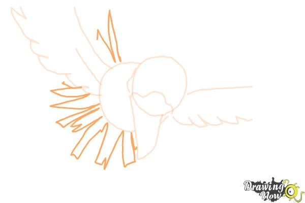 How to Draw Ho-Oh from Pokemon - Step 5