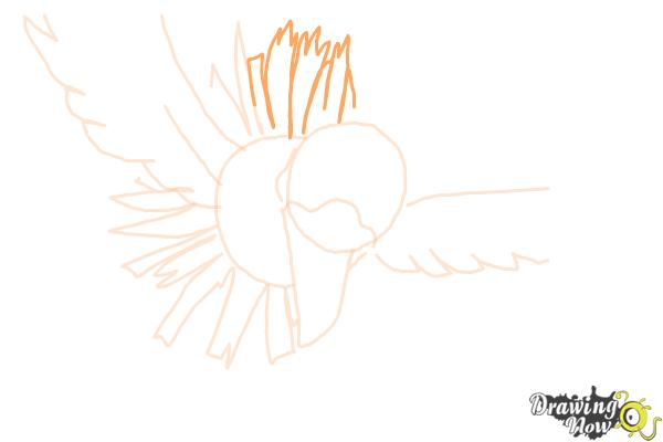 How to Draw Ho-Oh from Pokemon - Step 6