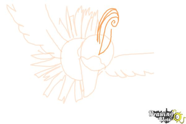 How to Draw Ho-Oh from Pokemon - Step 7