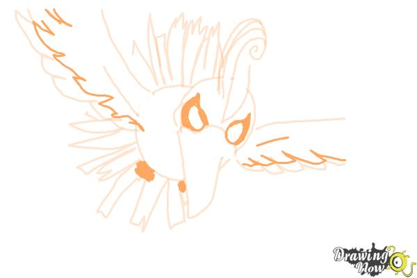 How to Draw Ho-Oh from Pokemon - Step 8