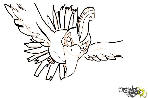 How to Draw Ho-Oh from Pokemon - Step 9