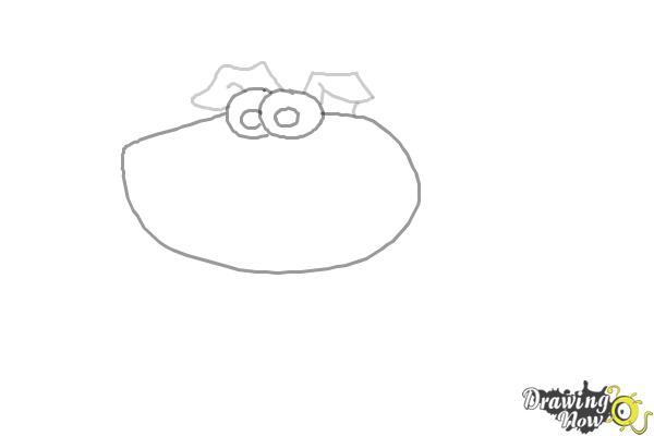 How to Draw a Cartoon Dog - Step 2