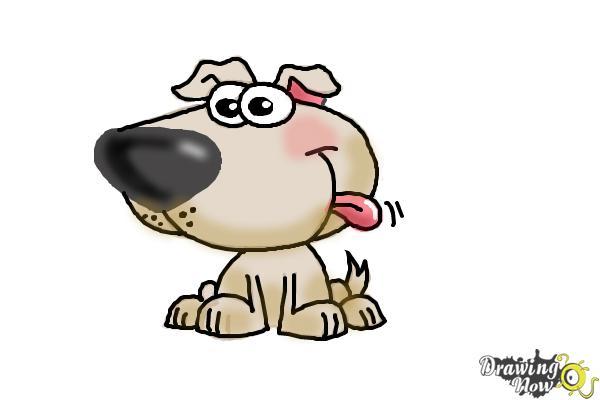 How to Draw a Cartoon Dog - Step 8